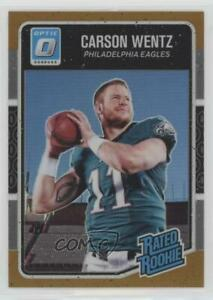 2016 Donruss Optic Bronze #156 Rated Rookies Carson Wentz Philadelphia Eagles
