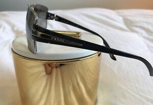 Prada Designer Men's Sunglasses BlackSilver Frame