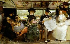 Bayswater Omnibus by George Joy. Fine Art Repro Made in U.S.A Giclee Prints