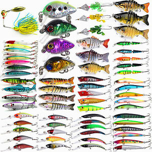 Lots Fishing Lures Crankbaits Hook Bait Tackle Minnow Shrimp 3457810Pcs