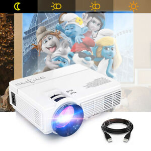 Mini LCD Home Cinema Projector 2400 Lumens LED Support Android 1080P w Speaker