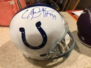 ERIC DICKERSON COLTS Full Size Helmet Autographed