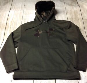 Under Armour Camo Logo Green Men's Hoodie Small Pre owned $34.95