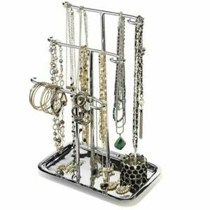 H Potter Jewelry Organizer Necklace Holder Tree Tower 3 Tier Display Stand Table