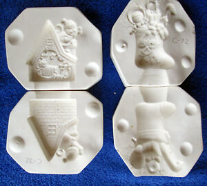 Fantasy 492 & 493 All Snug in Their Beds & Stocking Ornaments Ceramic Molds C72