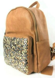Backpack Leather Fashion ANTIK KRAFT Studded Girl Women Backpack Travel School