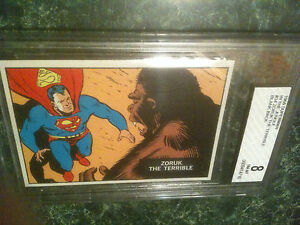 1966 Topps Superman Jungle #34 Test Issue Proof Blank Back Promo BVG BGS 8 11