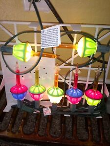 7 Electrified Bubble Christmas Lamps on a String - Christmas new 2004 stock