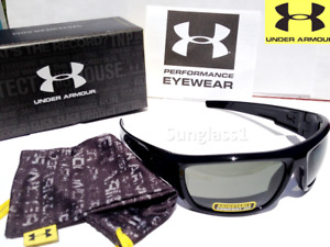 NEW* Under Armour PREVAIL Black polished w GREY Lens Sunglass