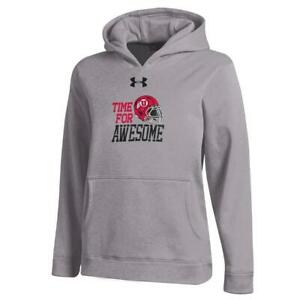 Youth Heather Gray University of Utah Utes Under Armour Hoodie