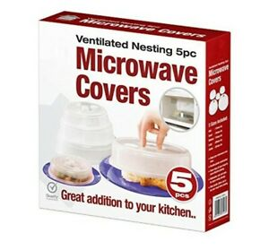 Set of 5 Microwave Plate Covers with Adjustable Steam Vents Microwave Splatter C