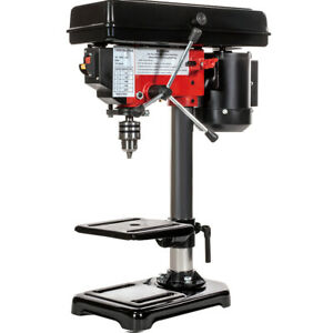 8quot; Electric Drill Press with Laser 5 Speed Guide Stationary Power Tools Wood