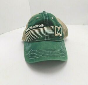 Menards Hat Cap Snapback Green Tan Mesh Back 1960 Retro Home Improvement