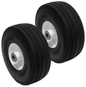 Flat Free 2PK for 105-3471 Time Cutter Z4200 Wheel Tire assembly 4.10/3.50-4