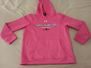 Womens Girls Under Armour Hoodie YLG Large L Youth Pink Athletic Daniel Island $15.99