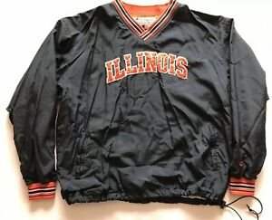 Vintage University Of Illinois Champion Windbreaker Pullover Jacket Sweatshirt