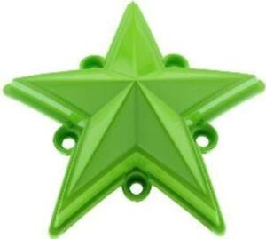 5 Pack XDSTAR-GN-PK GREEN XD SERIES COLORED REPLACEMENT STAR FOR ROCKSTAR CAPS
