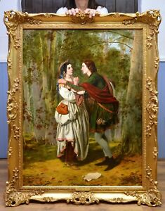 Very Fine Large Antique Original 19thC Oil Painting Shakespeare Royal Academy