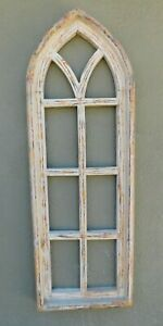 Wooden Antique Style Church WINDOW Frame Primitive Wood Gothic 34