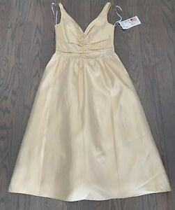 Jim Hjelm Formal Wedding Gown 12 Satin Faced Tafetta Biscuit Color NWT!