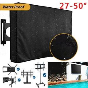 Durable Outdoor TV Cover W Bottom Cover for Most 27