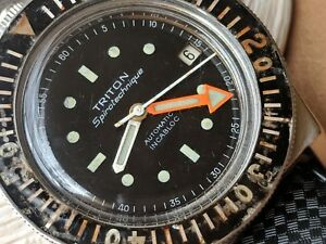 Vintage Dodane Triton Spirotechnique Divers Watch wBakelite BezelTropic Band