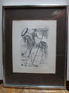 Collector's Guild Edition Etching Gravure Dali Don Quixote $292.69