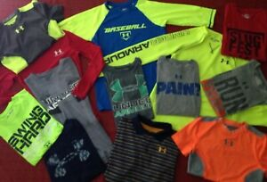 Huge Lot Of Boys Under Armour Shirts & Shorts Youth Medium