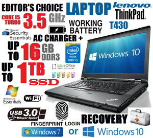 EDITOR CHOICE LENOVO THINKPAD I5 LAPTOP 🚩1TB SSD 🚩16GB RAM 🚩WIFI 🚩WIN 10 PRO