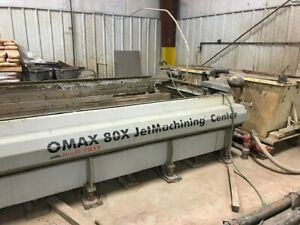 Omax 80X-1 water jet 2 pumps dual head 20 foot long includes sand removal system
