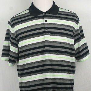 Nike Golf Dri Fit Polo Shirt Multi-Color striped LGG