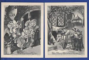 *KAPPYSSTAMPS PCC6 VICTORIAN LITHOGRAPHS LOWELL amp; CO BOSTON CHRISTMAS SET 2 $33.88