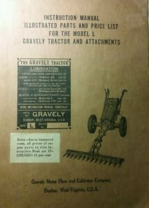 Gravely L LI LS Walk-Behind Garden Tractor Owner Operating & Parts Manual 1950