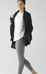 LULULEMON BELLE WRAP Cardigan Black SIZE 8 FITS ML $128 ABSURDLY MINT A++