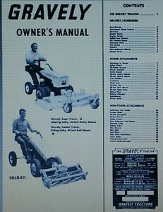 Gravely L LI LS 2-Wheel Garden Tractor Owner Operating & Parts Manual 30pg 1964