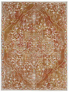 10' x 13' Karastan Machine Woven Area Rug Chimera Ginger Curry Oyster Grey