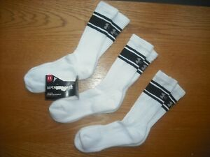 BoysPre-Teens NWT Under Armour Crew Socks 3prs White