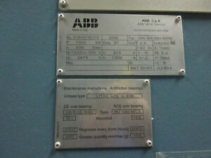 ABB Wound Rotor (Slip-Ring) A-C Motors ABB SACE Division NEW Unused