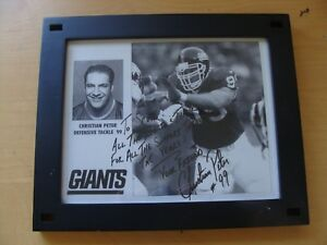 NY Giants Christian Peter Signed Autographed An inscription for Scott $21.99