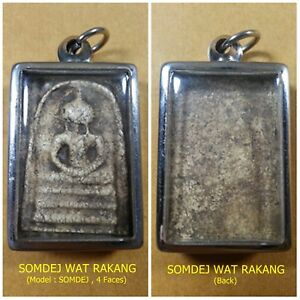 Antique Rare! TOP AMULET of THAILAND (of ASIA) Buddha Statue Pendant 200Yrs. #6