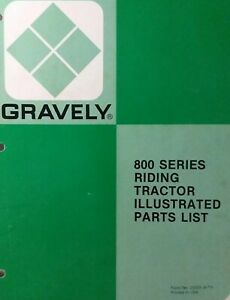 Gravely 800 810 812 816T 818T 816S Riding Lawn Garden Tractor Parts Manual 1977