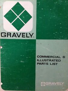 Gravely Walk Behind Commercial 8 Lawn Garden Tractor Parts Manual