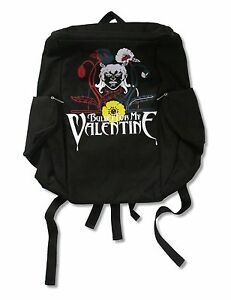 Bullet For My Valentine Flowers Black Backpack Bag New Official Band Music
