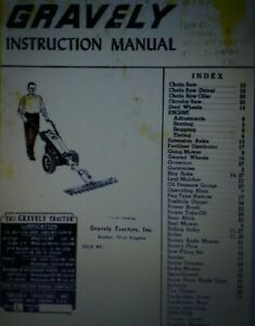 Gravely L LI LS Walk-Behind Garden Tractor Owner Operating & Parts Manual 1954