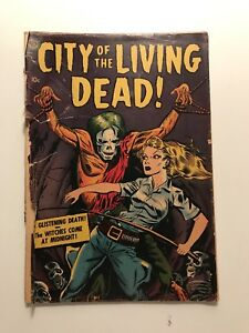 CITY OF THE LIVING DEAD (NN) == FA DERANGED DEMENTED ZOMBIE COVER AVON 1952