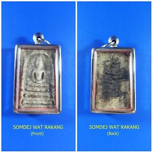 Antique Rare! TOP AMULET of THAILAND (of ASIA) Buddha Statue Pendant 200Yrs. #5