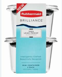 Rubbermaid 2pk 0.5 Cup Brilliance Food Storage Containers, Clear