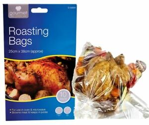 10 Large Roasting Bags Oven Microwave Cooking Browning Meat Roast Chicken Bag