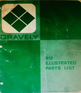 Gravely 800 Series 812 12 h.p. Riding Lawn Garden Tractor Parts Manual 20pg 1975
