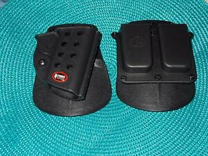 Fobus GL2 Holster and 2 Mags Pouch for medium and small pistols.